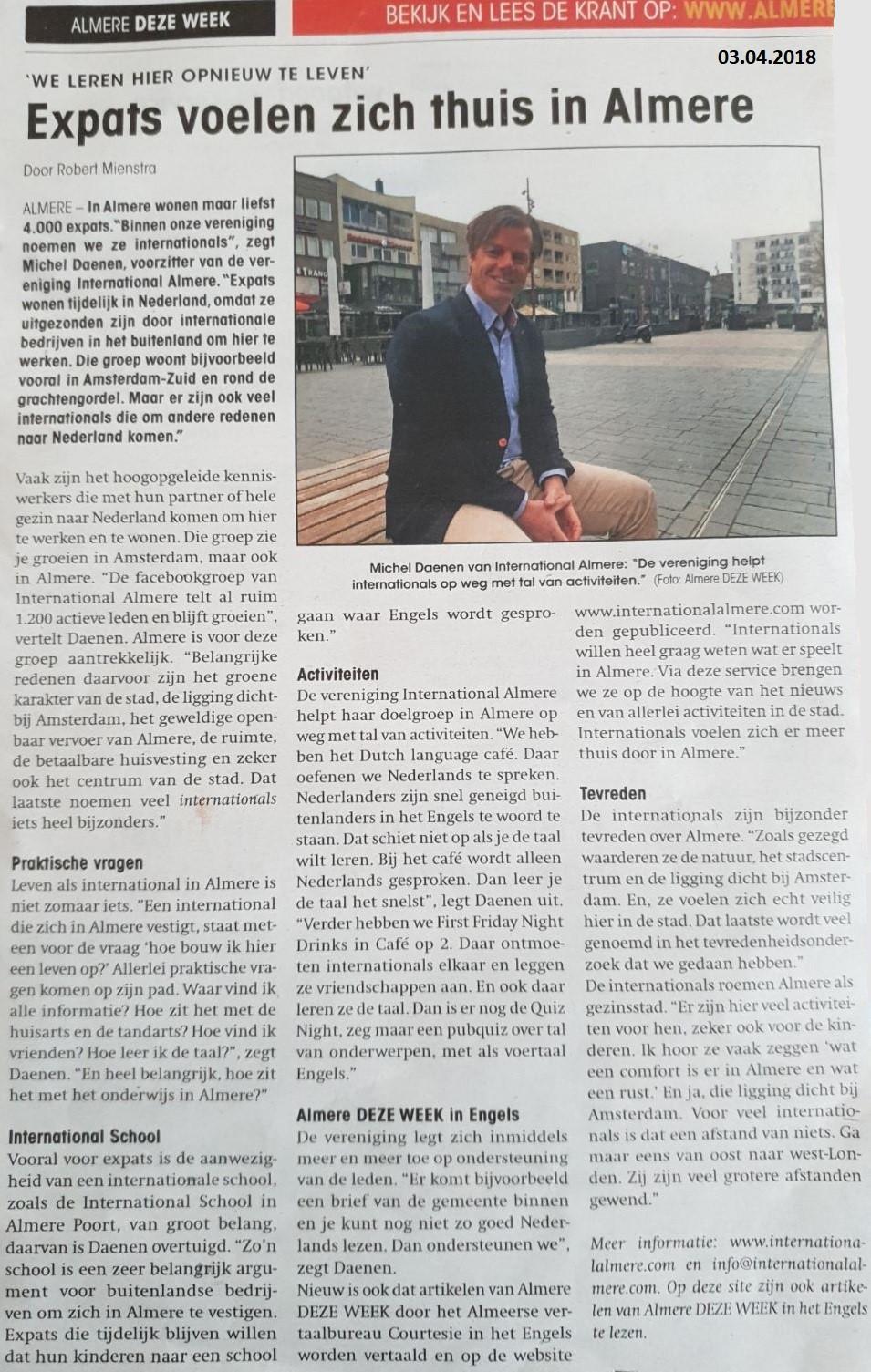 Expats voelen zich thuis in Almere